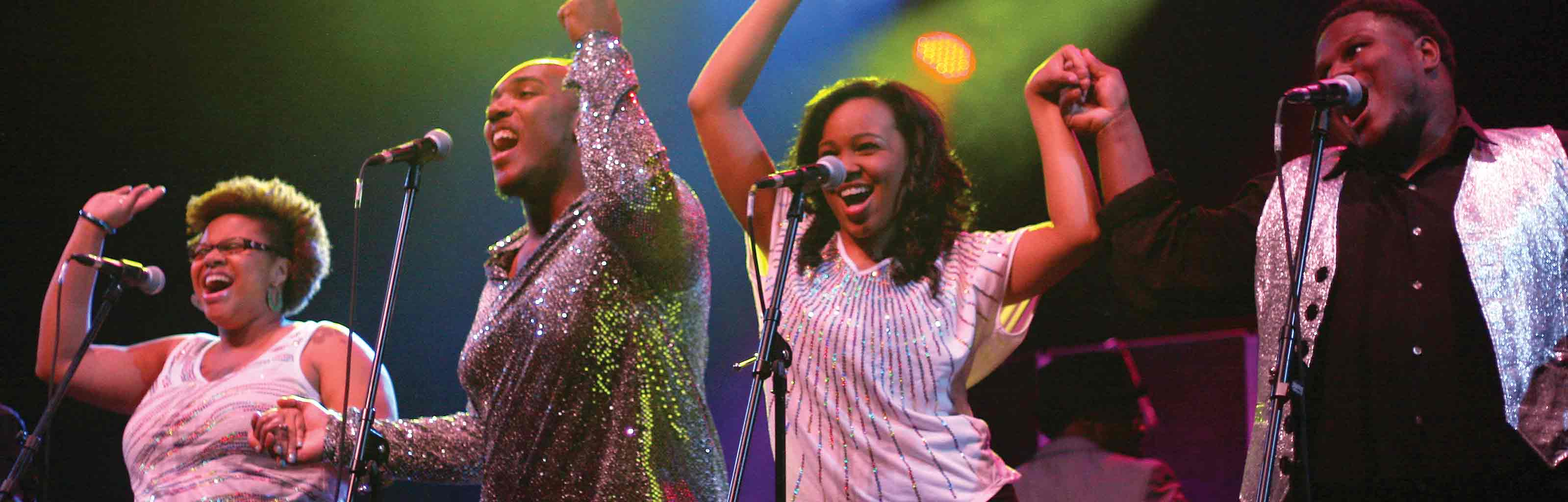 African American students perform in the IU Soul Revue