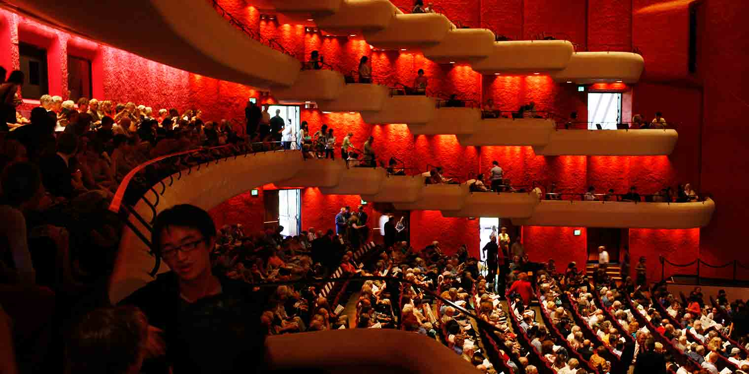 Musical Arts Center interior with people filling the seats