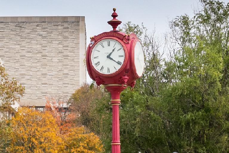 Clock on campus