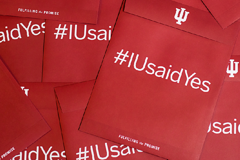 IU said yes envelopes