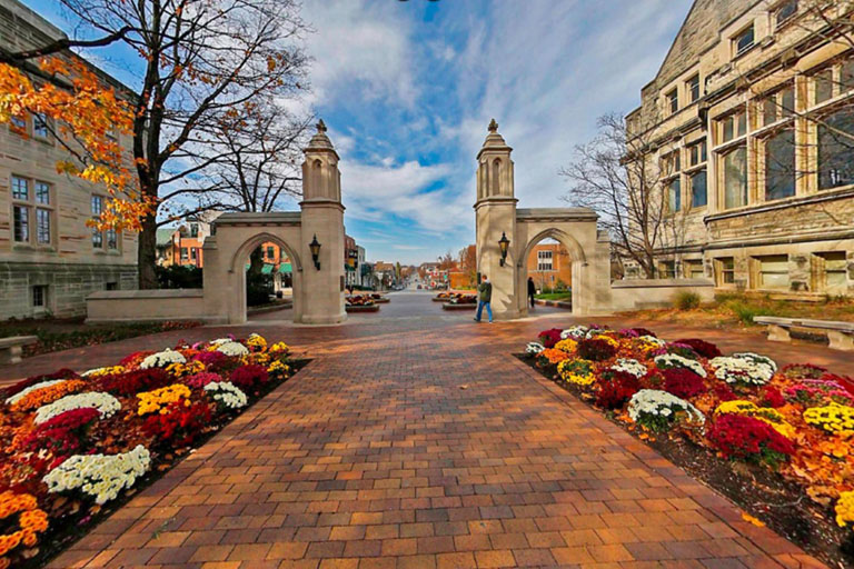 IU's Sample Gates in fall