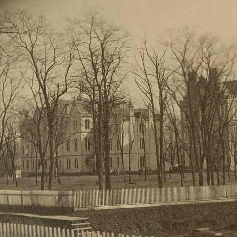 Historic shot of IU campus